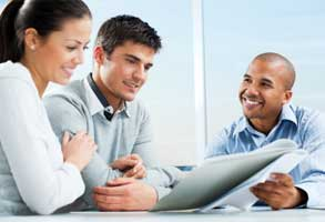 green deal assessor with customers